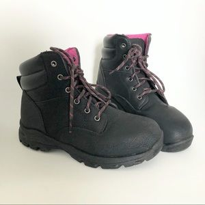Women's Steel Toe Work Boot Brahma 6.5 Pink Black